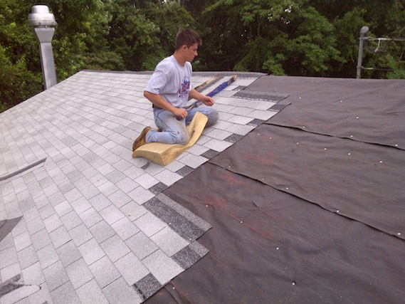Kyle Corman Re Roofing At Carraway United Methodist Church.